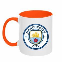 Кружка двоколірна 320ml Manchester City