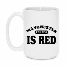 Кружка 420ml Manchester is red