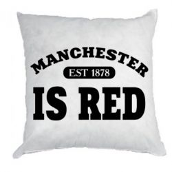 Подушка Manchester is red