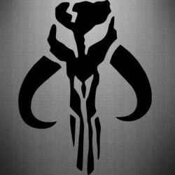 Наклейка Mandalorian emblem