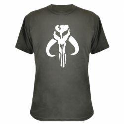 Камуфляжная футболка Mandalorian emblem
