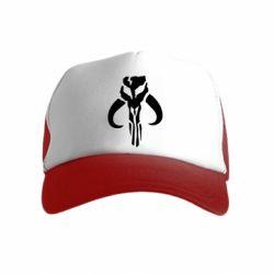 Детская кепка-тракер Mandalorian emblem