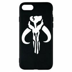 Чехол для iPhone 8 Mandalorian emblem