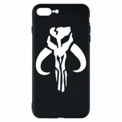 Чехол для iPhone 8 Plus Mandalorian emblem