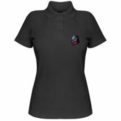 Женская футболка поло Mandalorian Helmet profil