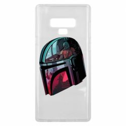 Чехол для Samsung Note 9 Mandalorian Helmet profil