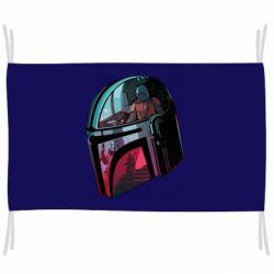 Флаг Mandalorian Helmet profil