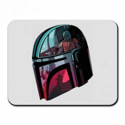 Коврик для мыши Mandalorian Helmet profil