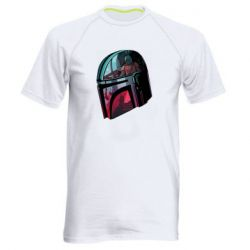 Мужская спортивная футболка Mandalorian Helmet profil