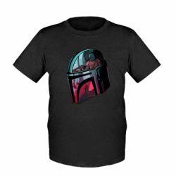 Детская футболка Mandalorian Helmet profil