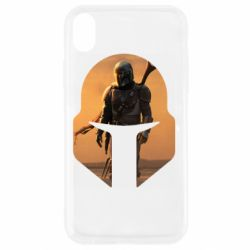 Чехол для iPhone XR Mandalorian Helmet