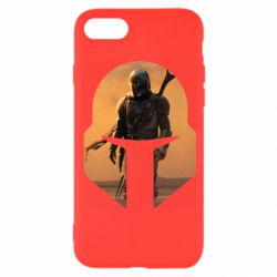 Чехол для iPhone 8 Mandalorian Helmet