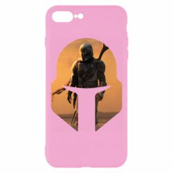 Чехол для iPhone 8 Plus Mandalorian Helmet