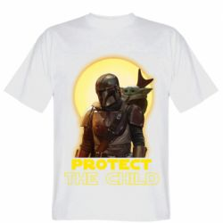 Мужская футболка Mandalorian the child