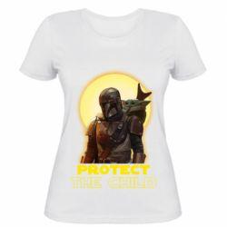 Женская футболка Mandalorian the child