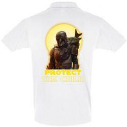 Мужская футболка поло Mandalorian the child