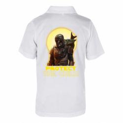 Детская футболка поло Mandalorian the child