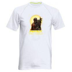 Мужская спортивная футболка Mandalorian the child