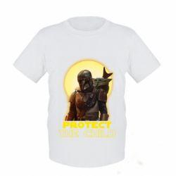 Детская футболка Mandalorian the child
