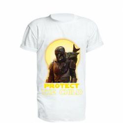 Удлиненная футболка Mandalorian the child