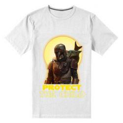 Мужская стрейчевая футболка Mandalorian the child