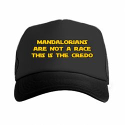 Кепка-тракер Mandalorians are not a race - this is the credo