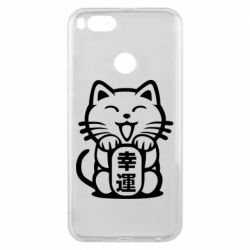 Чехол для Xiaomi Mi A1 Maneki-neko, cat bringing luck