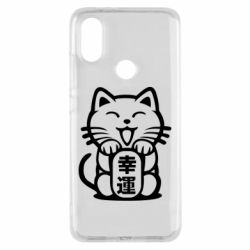 Чехол для Xiaomi Mi A2 Maneki-neko, cat bringing luck