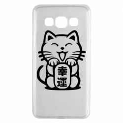 Чехол для Samsung A3 2015 Maneki-neko, cat bringing luck