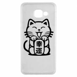 Чехол для Samsung A3 2016 Maneki-neko, cat bringing luck