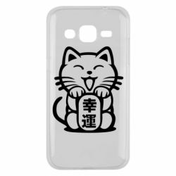 Чехол для Samsung J2 2015 Maneki-neko, cat bringing luck