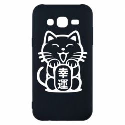 Чехол для Samsung J5 2015 Maneki-neko, cat bringing luck