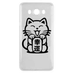 Чехол для Samsung J7 2016 Maneki-neko, cat bringing luck