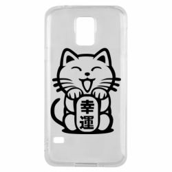 Чехол для Samsung S5 Maneki-neko, cat bringing luck