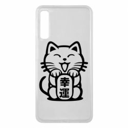 Чехол для Samsung A7 2018 Maneki-neko, cat bringing luck