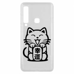Чехол для Samsung A9 2018 Maneki-neko, cat bringing luck