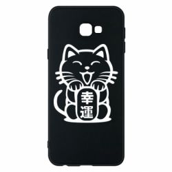 Чехол для Samsung J4 Plus 2018 Maneki-neko, cat bringing luck