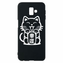 Чехол для Samsung J6 Plus 2018 Maneki-neko, cat bringing luck