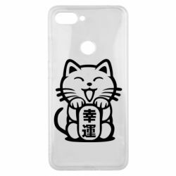 Чехол для Xiaomi Mi8 Lite Maneki-neko, cat bringing luck
