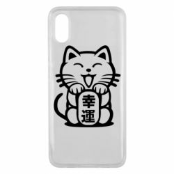 Чехол для Xiaomi Mi8 Pro Maneki-neko, cat bringing luck