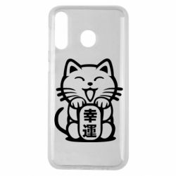 Чехол для Samsung M30 Maneki-neko, cat bringing luck
