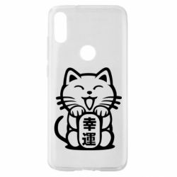Чехол для Xiaomi Mi Play Maneki-neko, cat bringing luck