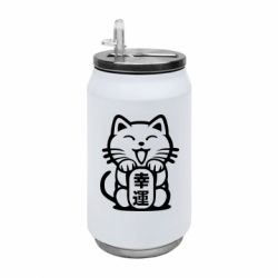 Термобанка 350ml Maneki-neko, cat bringing luck