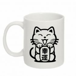 Кружка 320ml Maneki-neko, cat bringing luck