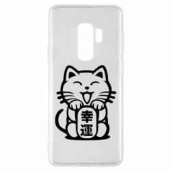 Чехол для Samsung S9+ Maneki-neko, cat bringing luck