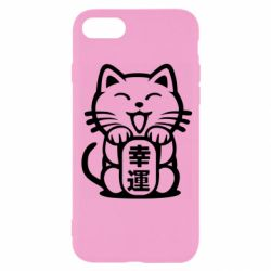 Чехол для iPhone 8 Maneki-neko, cat bringing luck