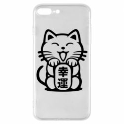 Чехол для iPhone 8 Plus Maneki-neko, cat bringing luck
