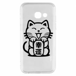 Чехол для Samsung A3 2017 Maneki-neko, cat bringing luck