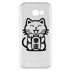 Чехол для Samsung A5 2017 Maneki-neko, cat bringing luck