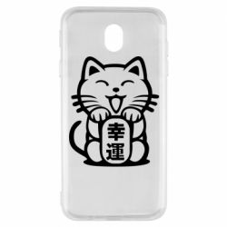 Чехол для Samsung J7 2017 Maneki-neko, cat bringing luck